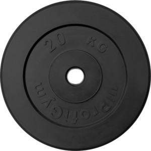 Диск ProfiGym обрезиненный d 31 мм чёрный 20,0 кг цена