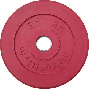 Диск ProfiGym обрезиненный d 51 мм красный 25,0 кг
