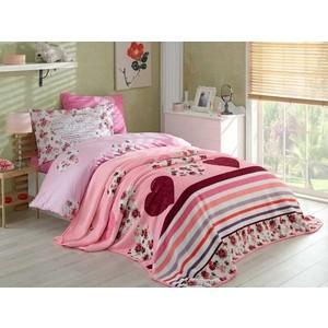Набор для спальни Hobby home collection покрывало + КПБ 1,5 сп, велсофт Bella лиловый (1501001562) кпб ромашки р 1 5 сп