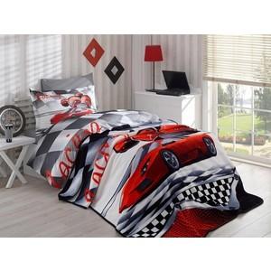 Набор для спальни Hobby home collection покрывало + КПБ 1,5 сп, велсофт X-racing красный (1501001563) кпб ромашки р 1 5 сп