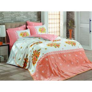 Набор для спальни Hobby home collection покрывало + КПБ Евро, велсофт Alvis персиковый (1501001340)
