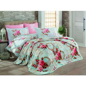 Набор для спальни Hobby home collection покрывало + КПБ Евро, велсофт Clementina розовый (1501001341) цена 2017
