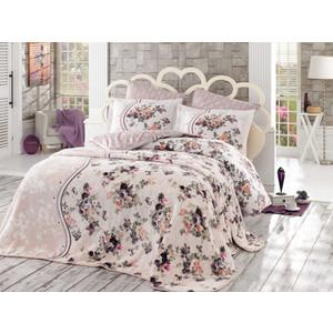 Набор для спальни Hobby home collection покрывало + КПБ Евро, велсофт Susana коричневый (1607000126)