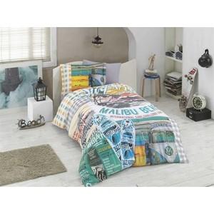 Комплект постельного белья Hobby home collection 1,5 сп, поплин Malibu Beach мульти (1501001757)