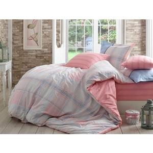 цена Комплект постельного белья Hobby home collection Семейный, поплин Carmela розовый (1501001424) онлайн в 2017 году