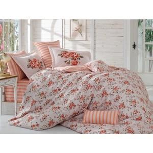 Комплект постельного белья Hobby home collection Семейный, поплин Flora персиковый (1501001431)