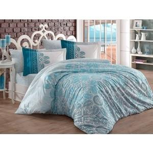 Комплект постельного белья Hobby home collection Семейный, поплин Irene бирюзовый (1501001600)