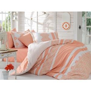 цена Комплект постельного белья Hobby home collection Семейный, поплин Lisa персиковый (1501001436) онлайн в 2017 году