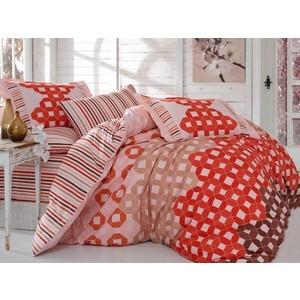 цена Комплект постельного белья Hobby home collection Семейный, поплин Marsella красный (1501001434) онлайн в 2017 году