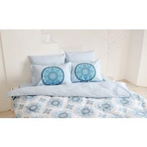 цена Комплект постельного белья Hobby home collection Семейный, поплин Silvana синий (1501001438) онлайн в 2017 году