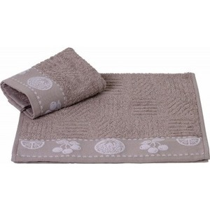 Набор полотенец 2 штуки Hobby home collection 50x90 Belek серый (1501001505) цены