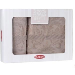 Набор полотенец 2 штуки Hobby home collection 50x90/70x140 Marmaris кофейный (1501001498) цены