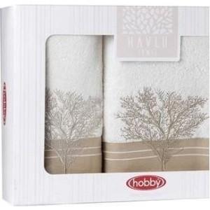 Набор полотенец 2 штуки Hobby home collection 50x90/70x140 Marmaris кремовый (1501001499) цены