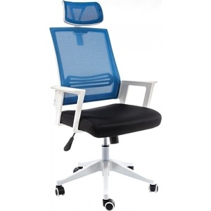 Компьютерное кресло Woodville Dreamer белое/черное/голубое