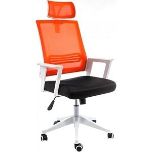 Компьютерное кресло Woodville Dreamer белое/черное/оранжевое