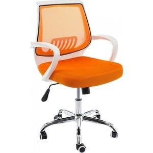 Компьютерное кресло Woodville Ergoplus белое/оранжевое