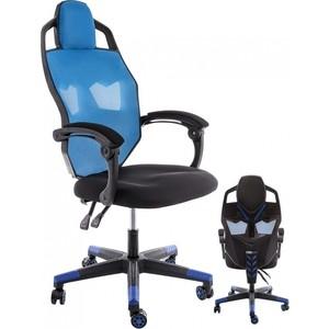 Компьютерное кресло Woodville Knight черное/голубое цены