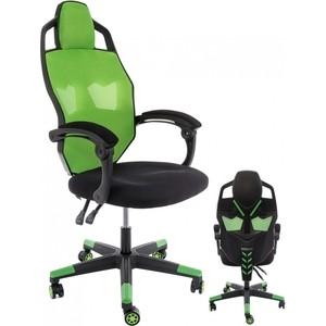 Компьютерное кресло Woodville Knight черное/зеленое компьютерное кресло woodville leon черное зеленое