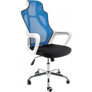 Компьютерное кресло Woodville Local черное/голубое цены