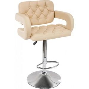 Барный стул Woodville Shiny бежевый