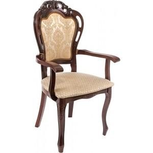 Кресло Woodville Bronte вишня/бежевый недорго, оригинальная цена