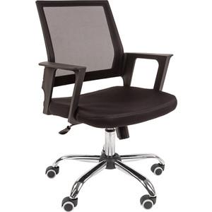 Офисное кресло Русские кресла РК 15 черное хром кресло конф ц 811 кожзам черный хром 620978 шатура oфисные кресла