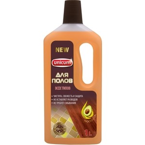 Средство UNICUM для мытья полов универсальное, 1 л rm 69 моющее средство для мытья полов