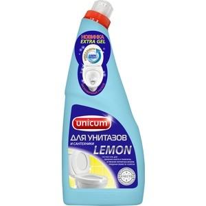 Гель UNICUM для чистки унитазов Лимон, 750 мл