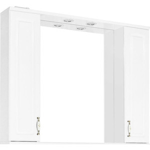 Зеркало-шкаф Style line Олеандр-2 Люкс 100 с подсветкой, белый (2000949070537)