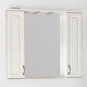 Зеркало-шкаф Style line Олеандр-2 Люкс 90 с подсветкой, рельеф пастель (2000949081564)