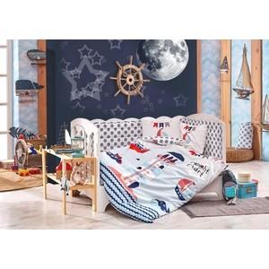 купить Комплект детского постельного белья Hobby home collection поплин BABY SAILOR, синий, 100% Хлопок по цене 1529.5 рублей