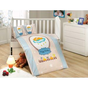 цена Комплект детского постельного белья Hobby home collection поплин BAMBAM, голубое, 100% Хлопок онлайн в 2017 году