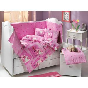 цена Комплект детского постельного белья Hobby home collection поплин LITTLE SHEEP, розовый, 100% Хлопок онлайн в 2017 году