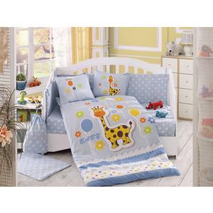 Комплект детского постельного белья Hobby home collection поплин PUFFY, голубое, 100% Хлопок комплект детский hobby home collection puffy
