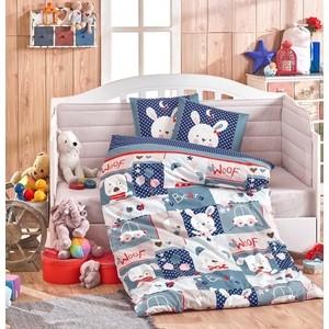 купить Комплект детского постельного белья Hobby home collection поплин SNOOPY, синий, 100% Хлопок по цене 1529.5 рублей
