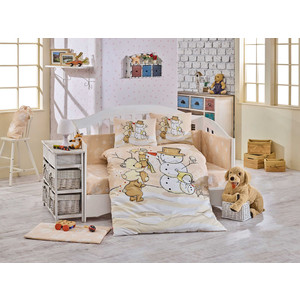 Комплект детского постельного белья Hobby home collection поплин SNOWBALL, бежевый, 100% Хлопок снежкометатель snowball launcher