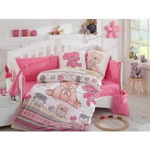 цена Комплект детского постельного белья Hobby home collection поплин TOMBIK, розовый, 100% Хлопок онлайн в 2017 году
