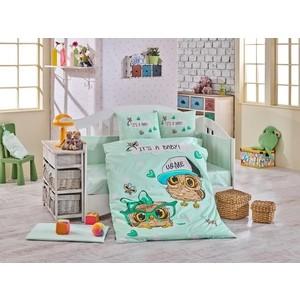 Комплект детского постельного белья Hobby home collection с одеялом поплин COOL BABY, минт, 100% Хлопок