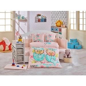 Комплект детского постельного белья Hobby home collection с одеялом поплин LOVELY, минт, 100% Хлопок