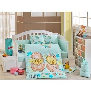 Комплект детского постельного белья Hobby home collection с одеялом поплин LOVELY, персиковый, 100% Хлопок