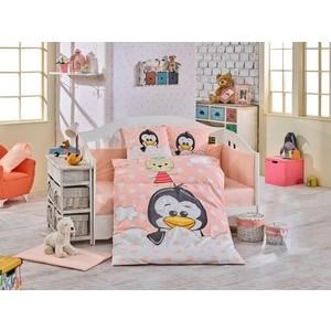 Комплект детского постельного белья Hobby home collection с одеялом поплин PENGUIN, персиковый, 100% Хлопок