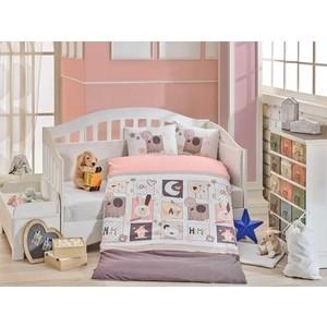 цена Комплект детского постельного белья Hobby home collection с одеялом поплин SWEET HOME, розовый, 100% Хлопок онлайн в 2017 году