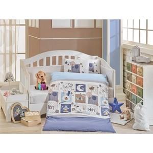 цена Комплект детского постельного белья Hobby home collection с одеялом поплин SWEET HOME, синий, 100% Хлопок онлайн в 2017 году