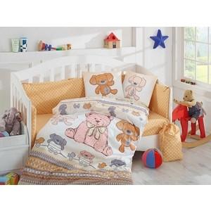 Комплект детского постельного белья Hobby home collection с одеялом поплин TOMBIK, жёлтый, 100% Хлопок