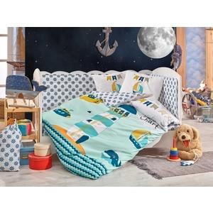 Комплект детского постельного белья Hobby home collection с одеялом поплин BABY SAILOR, минт, 100% Хлопок комплект детского постельного белья mona liza teddy baby с лошадкой панно бязь хлопок 100