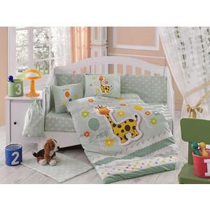 Комплект детского постельного белья Hobby home collection с одеялом поплин PUFFY, минт, 100% Хлопок