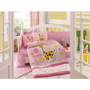 цена Комплект детского постельного белья Hobby home collection с одеялом поплин PUFFY, розовый, 100% Хлопок онлайн в 2017 году