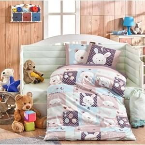 Комплект детского постельного белья Hobby home collection с одеялом поплин SNOOPY, минт, 100% Хлопок