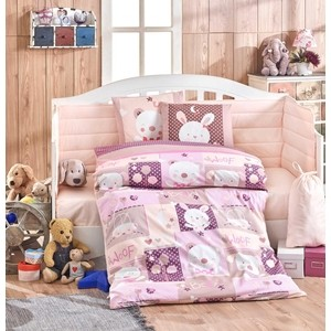 Комплект детского постельного белья Hobby home collection с одеялом поплин SNOOPY, розовый, 100% Хлопок