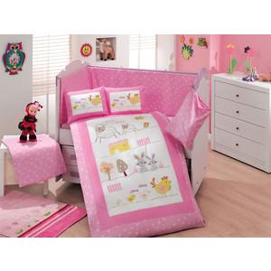 Комплект детского постельного белья Hobby home collection с одеялом поплин ZOO, розовый, 100% Хлопок